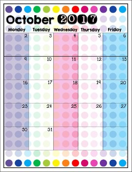 2017-2018 Calendar Style 3 {Freebie}