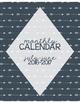 2016-2017 Calendar for Binder: Navy & Arrow Themed