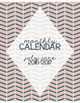 2016-2017 Calendar for Binder: Pink, Navy & Tan Themed