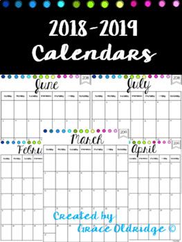 2016-2017 Calendars