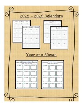 2017-2018 Monthly Calendars- editable