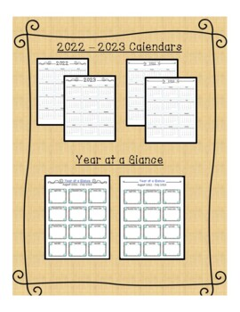 2018-2019 Monthly Calendars- editable