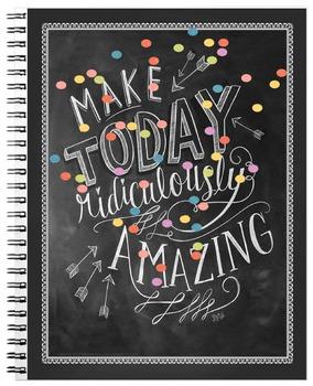 2016-2017 Chalkboard Confetti Teacher Lesson Planner