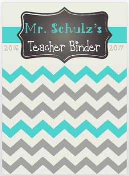 2016-2017 Chevron Teacher Binder EDITABLE