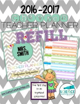 2016-2017 Chevron Teacher Planner REFILL