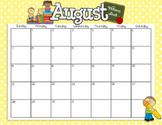 2016-2017 Colorful Calendar