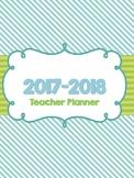 2017-2018 Colorful Inspirational Teacher Planner/Binder