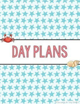 2017-2018 Day Planner (Beach Theme)