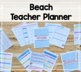 2018-2019 Teacher Binder/Lesson Planner (Beach Theme)