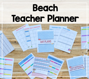 2016-2017 Day Planner (Beach Theme)