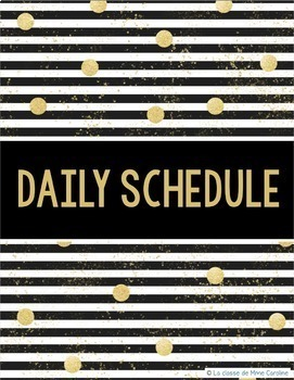 2017-2018 Day Planner (Black and Gold Theme)