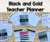 2018-2019 Teacher Binder/Lesson Planner (Black and Gold Theme)