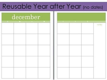 2016-2017 Editable Calendar/Checklist for use with Erin Condren Teacher Planner