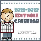 2017-2018 Editable School Calendar *Newly Revised!