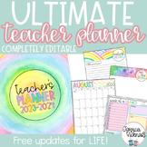 2018-2019 Editable Ultimate Teacher Planning Bundle {Brigh