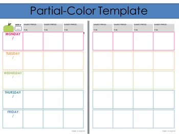 2016-2017 Editable Template for use with Erin Condren Teacher Planner