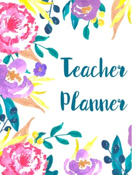 2016/2017 Floral Teacher Planner (Including Sub Pages)