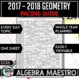 2017-2018 Geometry Pacing Guide