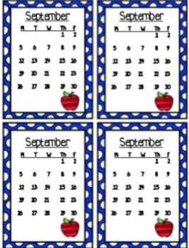 2016-2017 Homework Charts/Calendar BUNDLE!!!!