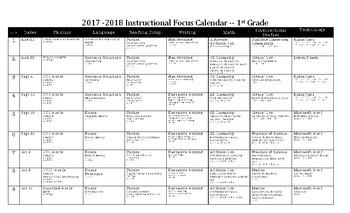 2017-2018 Instructional Focus Calendar