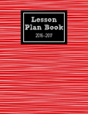 2016-2017 Lesson Planner (Red)