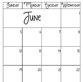 2016-2017 Lined Planning Calendar