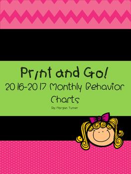 2016-2017 Monthly Behavior Charts