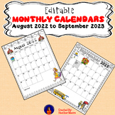 2018 - 2019 Monthly Calendar Editable