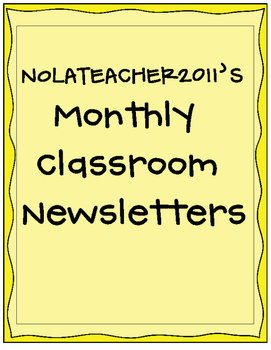 2016-2017 Monthly Classroom Newsletters