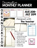 2017-2018 Monthly Planner