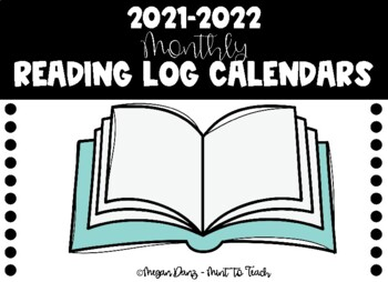 2016-2017 Monthly Reading Log Calendars