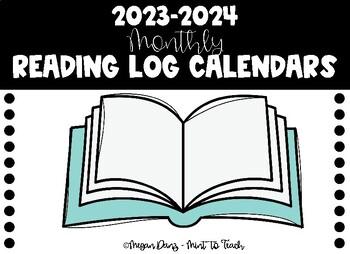 2017-2018 Monthly Reading Log Calendars
