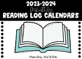2018-2019 Monthly Reading Log Calendars