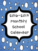 2016-2017 Monthly School Calendars