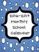 2016-2017 Monthly School Calendars