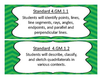 2017-2018 Oklahoma 4th Grade Math and Language Academic Standards, Chevron