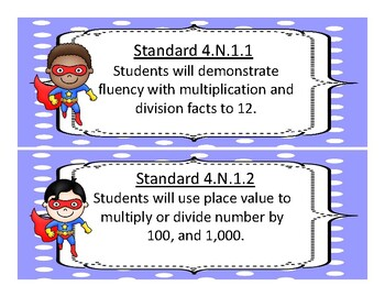 2017-2018 Oklahoma 4th Grade Math and Language Academic Standards