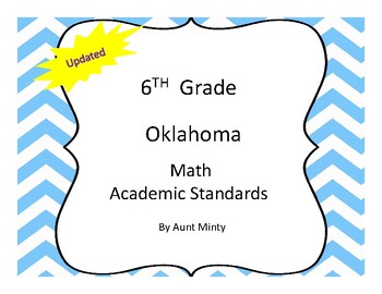 2017-2018 Oklahoma 6th Grade Math Academic Standards and Objectives