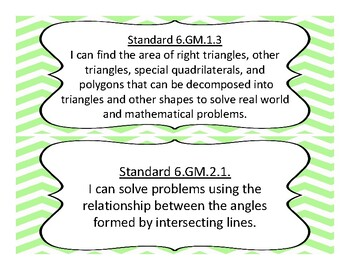 2018-2019 Oklahoma 6th Grade Math Academic Standards and Objectives
