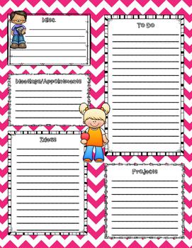 2016-2017 Pink Chevron Teacher Binder/Organizer
