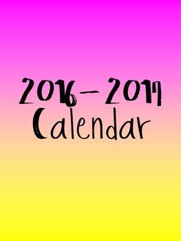 2016 - 2017 Planner