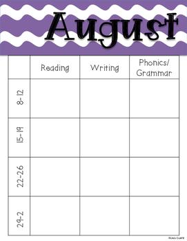 2016-2017 Planning Calendar
