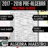 2017-2018 Pre-Algebra Pacing Guide