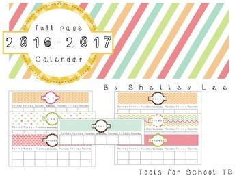 2016-2017 Printable Calendar