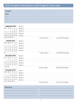 2016/2017 Private Music Teacher Agenda & Planner