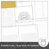 2017-2018 Professional Weekly Lesson Planner Editable Student List and IEP Pages