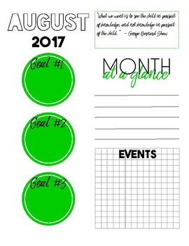Sanity Saver: Month-At-A-Glance