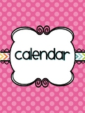 Cheerful School Calendar