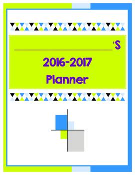 2016-2017 School Year Planner