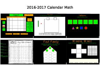 2016-2017 SmartBoard Calendar Math